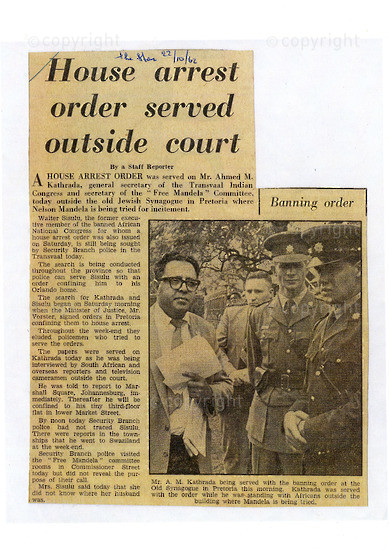 NFC_C1003: Newspaper Clipping: Rand Daily Mail, 23 October 1962