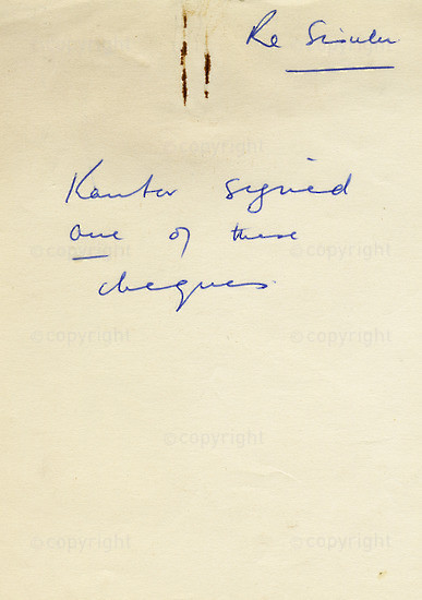 WKC_A1023: Note - James Kantor Papers