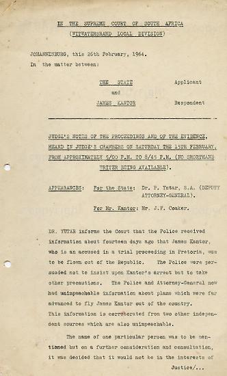 WKC_A1005: Legal Proceedings: James Kantor vs The State