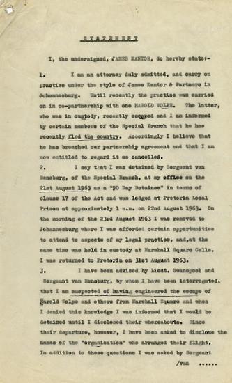 WKC_A1003: Legal Proceedings: James Kantor's Statement