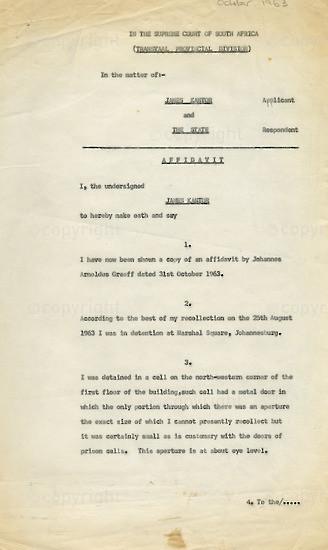 WKC_A1009: Legal Proceedings: James Kantor's Affidavit
