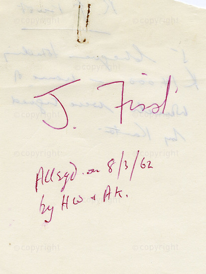 WKC_A2037: Note - James Kantor Papers