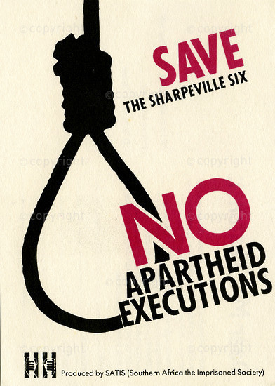 WKC_A2001: Save The Sharpeville Six - No Apartheid Executions