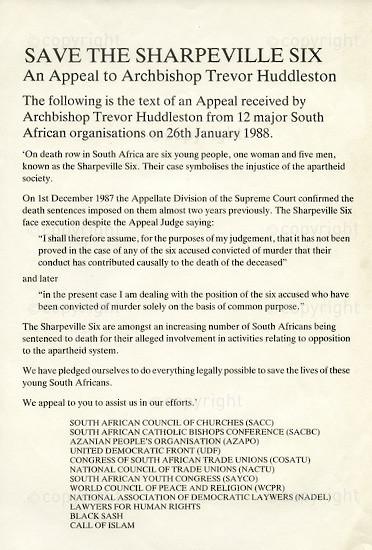 WKC_A2010: Save the Sharpeville Six
