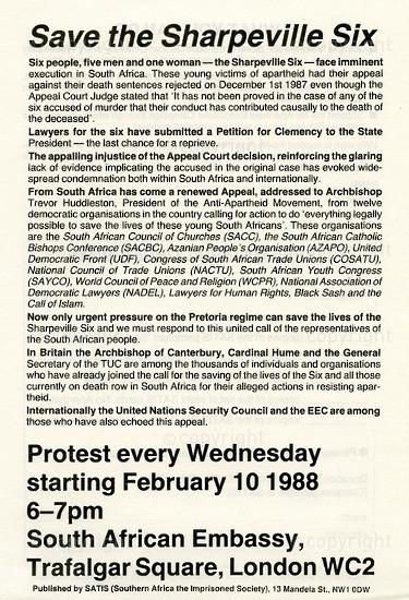 WKC_A2003: Save Sharpeville Six