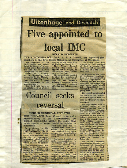NFC_C1029: Newspaper Clipping: Five Appointed  to Local MC