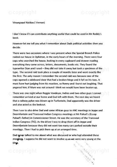 NFC_C1054: Statement: Vinuegopal Naidoo ( Vernon)