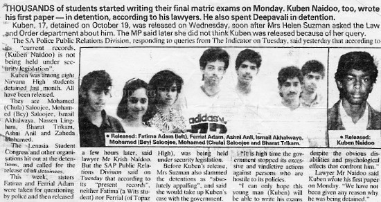 NFC_C1108: Newspaper Clipping: Exam in Detention