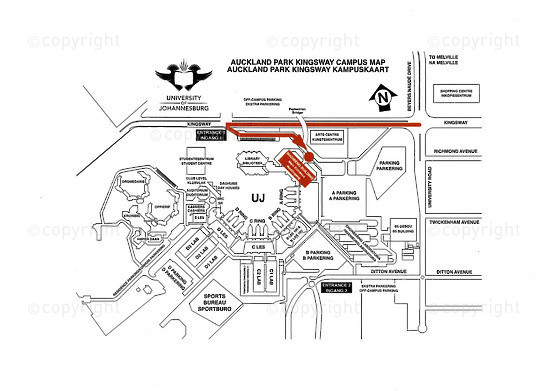 NFC_C1058: Map - Auckland Park Kingsway Campus