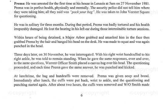 NFC_C1090: Excerpt - On the details of Prema Naidoo's Torture in 1985