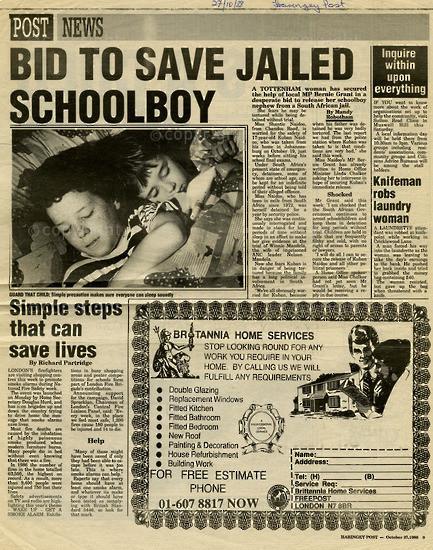 NFC_C1104: Newspaper Clipping: Bid to save jailed school boy