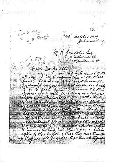 NFC_C1045: Letter - From Thambi to Mahatma Gandhi