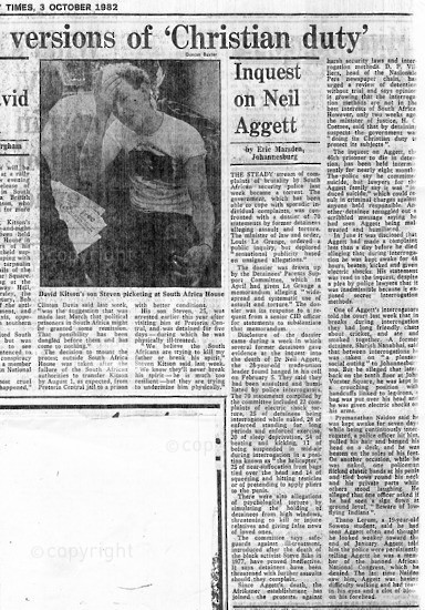 NFC_C1092: Newspaper Clipping: Inquest of Neil Aggett