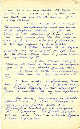 WKC_A1008: Handwritten Biography: Walter
