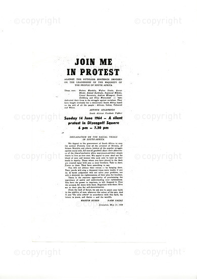 AGC_D3001: Flyer - 'Join Me In Protest '