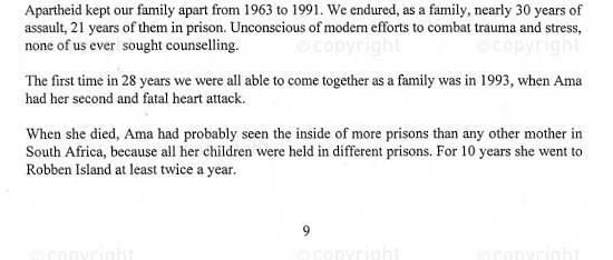 NFC_C1115: Excerpt - Testimony Naidoo's Family 28 years of assault