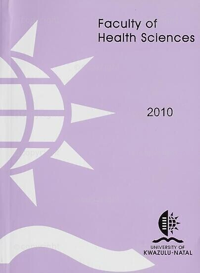 University of KwaZulu-Natal, Faculty of Health Sciences (Westville campus) Handbook 2010