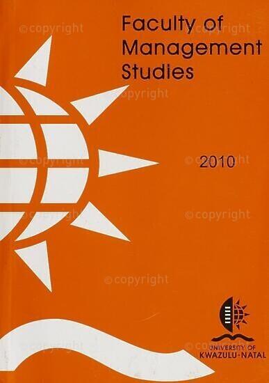 University of KwaZulu-Natal, Faculty of Management Studies Handbook 2010