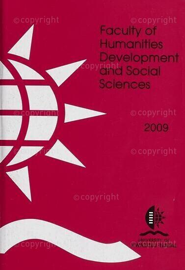 University of KwaZulu-Natal, Faculty of Humanities, Development and Social Sciences Handbook 2009