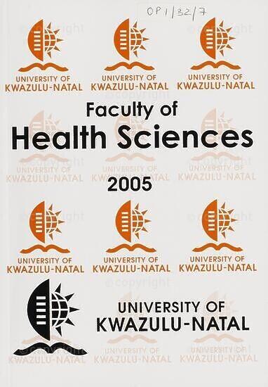 University of KwaZulu-Natal, Faculty of Health Sciences (Westville campus) Handbook 2005