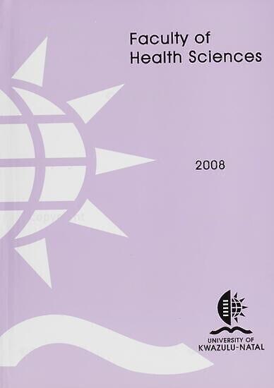 University of KwaZulu-Natal, Faculty of Health Sciences (Westville campus) Handbook 2008