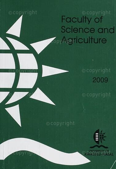 University of KwaZulu-Natal, Faculty of Science and Agriculture Handbook 2009