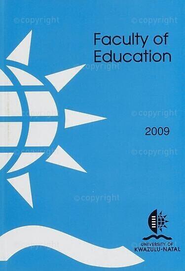 University of KwaZulu-Natal, Faculty of Education Handbook 2009