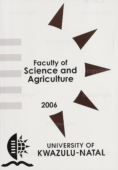 University of KwaZulu-Natal, Faculty of Science and Agriculture Handbook 2006