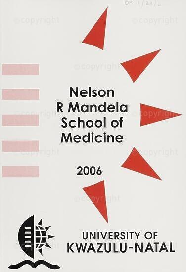 University of KwaZulu-Natal, Nelson R. Mandela School of Medicine (Faculty of Health Sciences) Handbook 2006