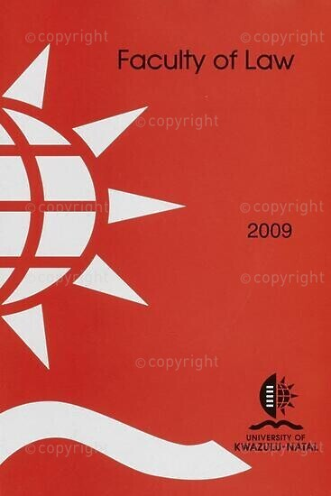 University of KwaZulu-Natal, Faculty of Law Handbook 2009