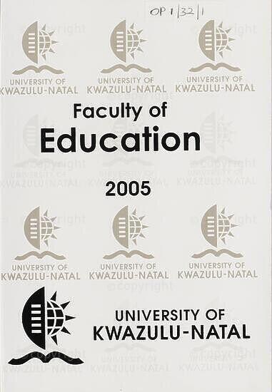 University of KwaZulu-Natal, Faculty of Education Handbook 2005