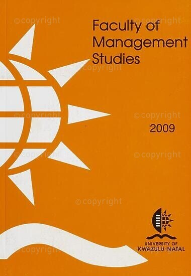 University of KwaZulu-Natal, Faculty of Management Studies Handbook 2009