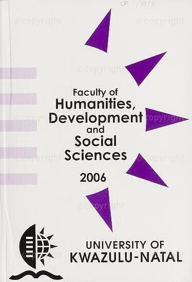 University of KwaZulu-Natal, Faculty of Humanities, Development and Social Sciences Handbook 2006