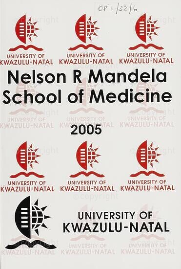 University of KwaZulu-Natal, Nelson R. Mandela School of Medicine (Faculty of Health Sciences) Handbook 2005