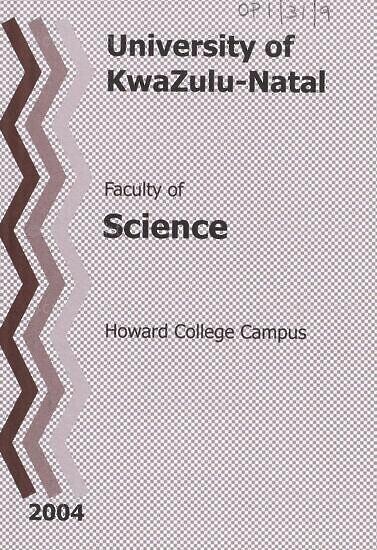 University of KwaZulu-Natal, Faculty of Science Handbook 2004