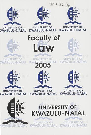 University of KwaZulu-Natal, Faculty of Law Handbook 2005