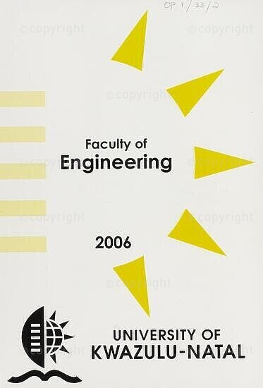University of KwaZulu-Natal, Faculty of Engineering Handbook 2006