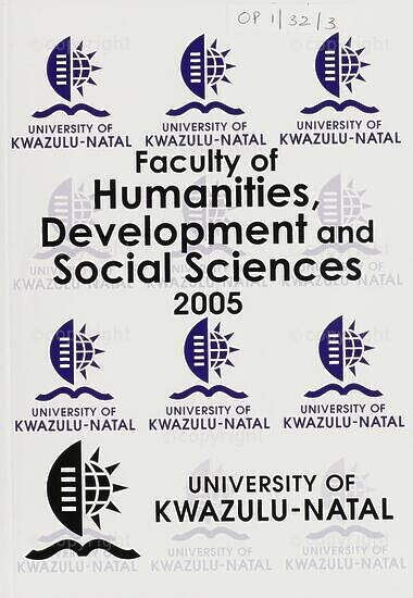 University of KwaZulu-Natal, Faculty of Humanities, Development and Social Sciences Handbook 2005