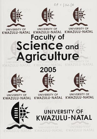 University of KwaZulu-Natal, Faculty of Science and Agriculture Handbook 2005