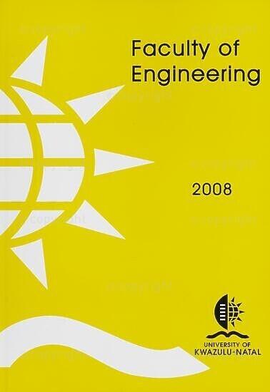 University of KwaZulu-Natal, Faculty of Engineering Handbook 2008