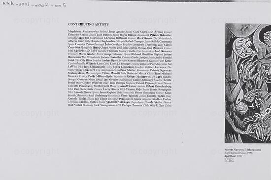 Contributing Artists / Apartheid, 1982
