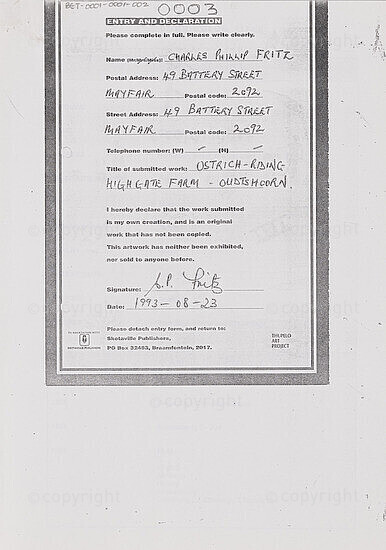 Entry and Declaration / Ostrich-Riding Highgate Farm - Oudtshoorn [and related documents]