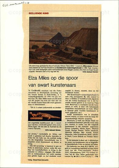 Elza Miles op die spoor van swart kunstenaars