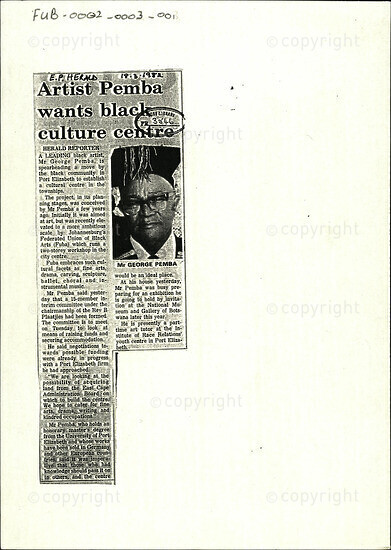 Artist Pemba wants black culture centre