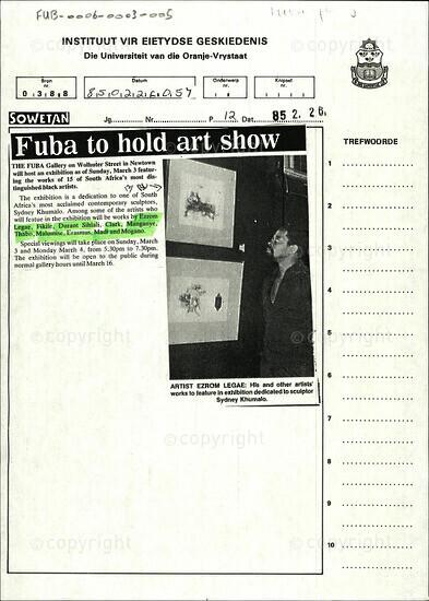 Fuba to hold art show