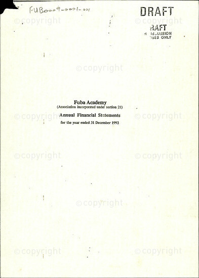 Annual Financial Statements for the year ended 31 December 1992