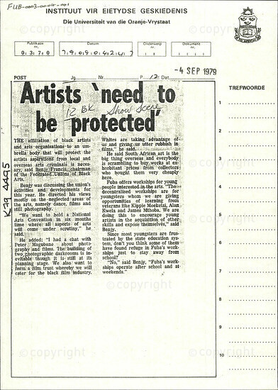 Artists 'need to be protected'
