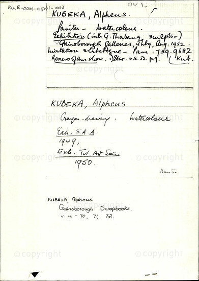 Kubeka, Alphens [and related document]