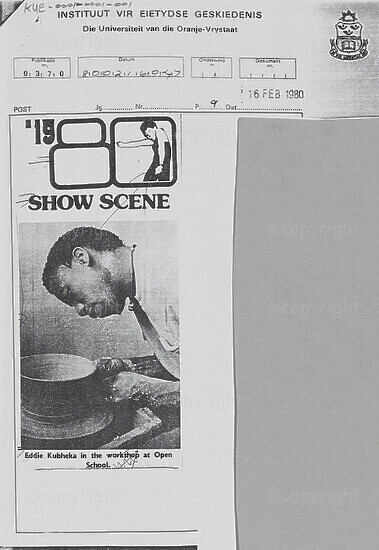 '1980 Show Scene [and related document]