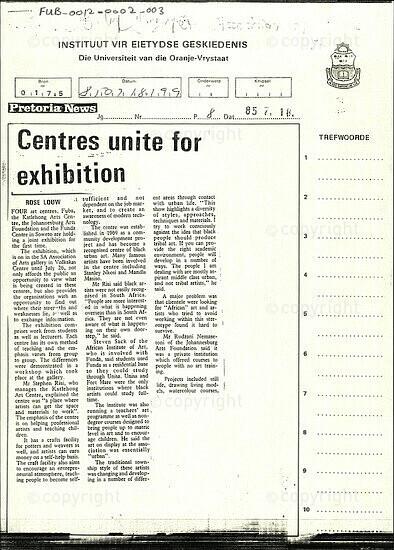 Centres unite for exhibition